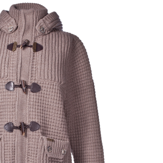 Bark Gents Duffle Coat Knitted Taupe