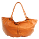Leather Shopper Brown