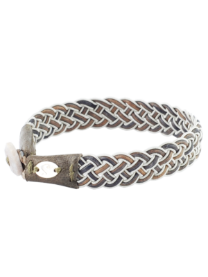 Saami Crafts Leather Bracelet Grey