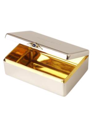 Torhaus Silver Box with Sapphire Cabochon, inside gold-plated