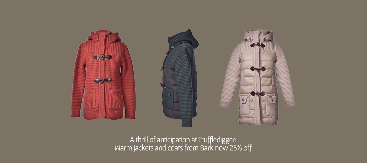 Bark duffle coats